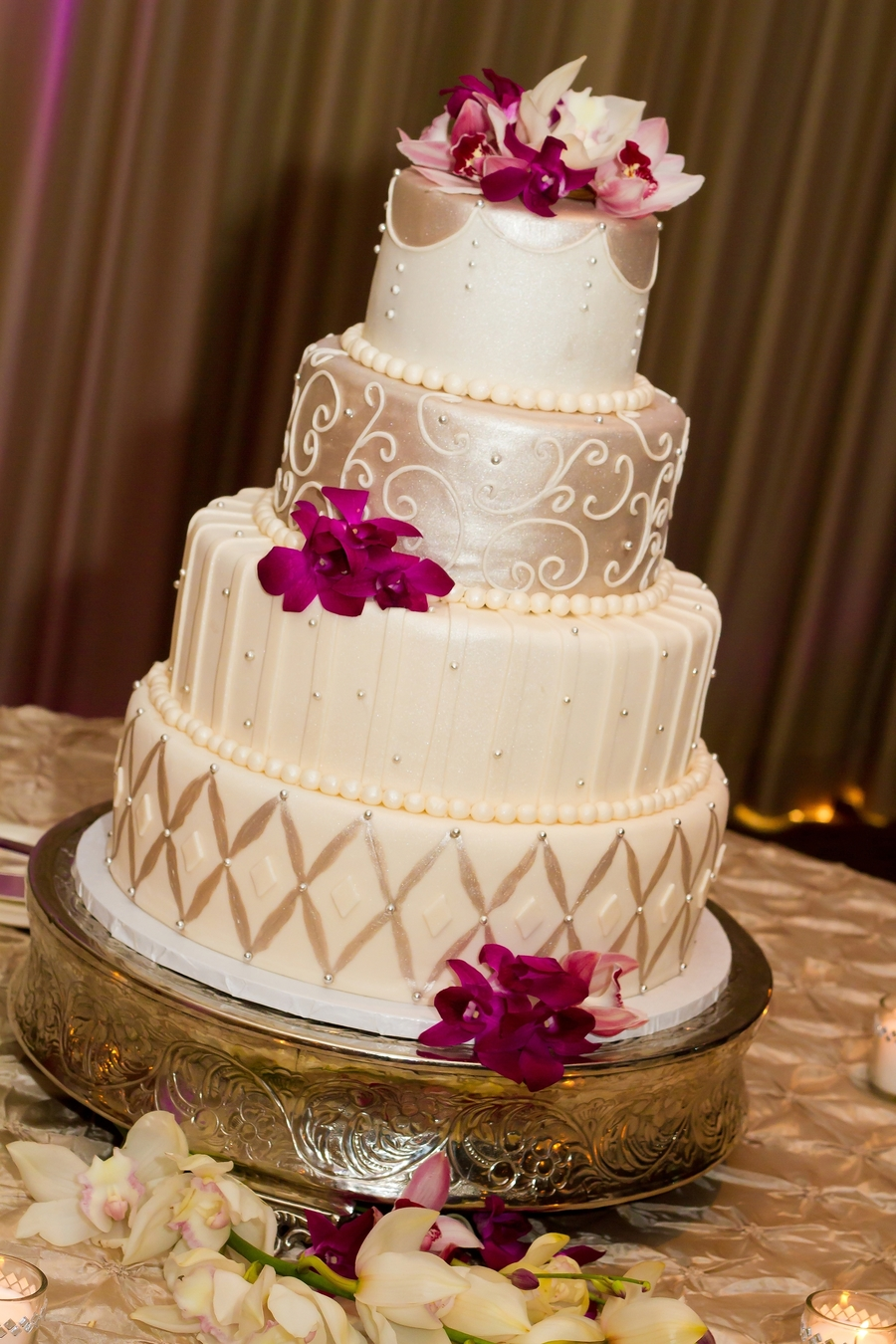 Tuscan Wedding Cake  on Cake Central