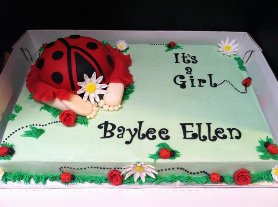 Ladybug Baby Shower, Baby Butt Cake  on Cake Central