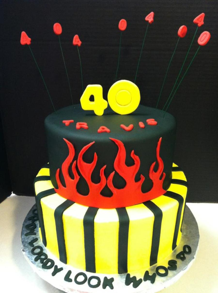 Miraculous Mans 40Th Birthday Cake Cakecentral Com Funny Birthday Cards Online Alyptdamsfinfo