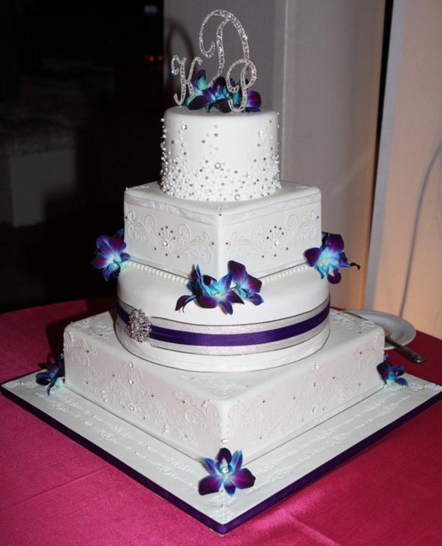 pearl and crystal stencil wedding cake. Black Bedroom Furniture Sets. Home Design Ideas