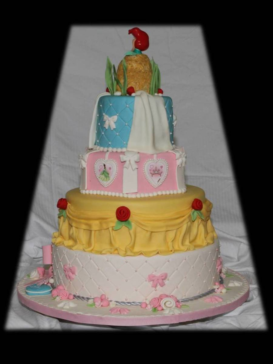 disney princess cake disney princess tiered cake cakecentral 3567