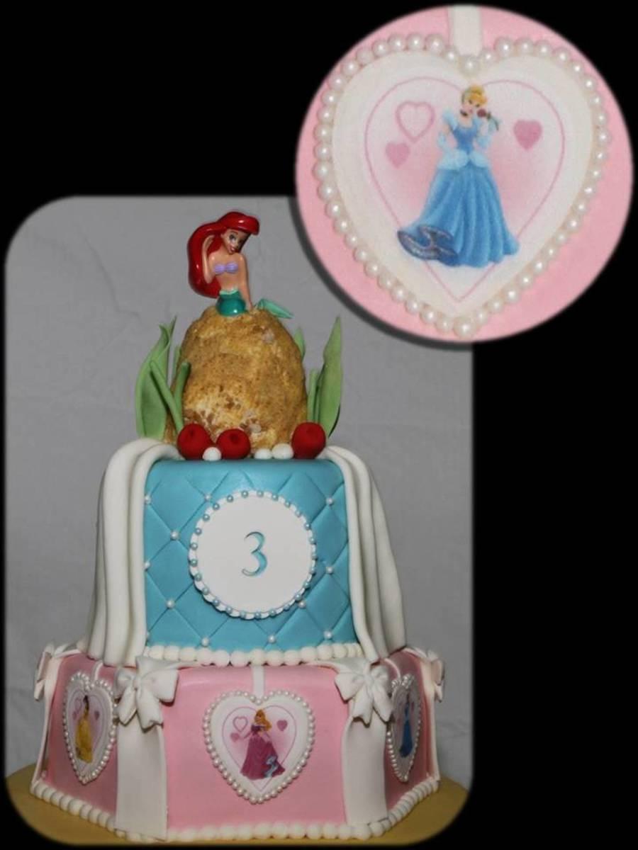 Disney Princess Tiered Cake Cakecentral Com