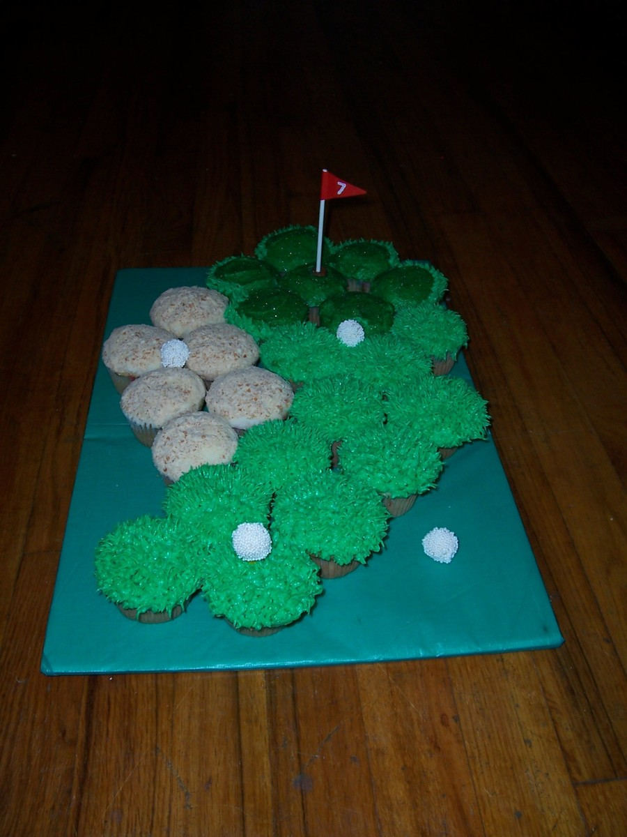 Golf Course Cupcakes on Cake Central