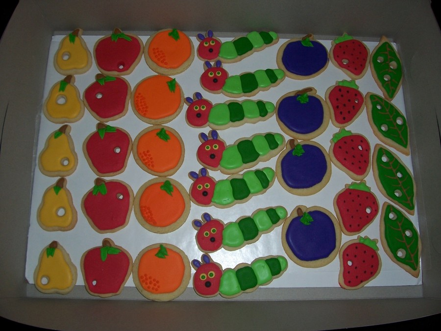 Hungry Caterpillar Cookies on Cake Central