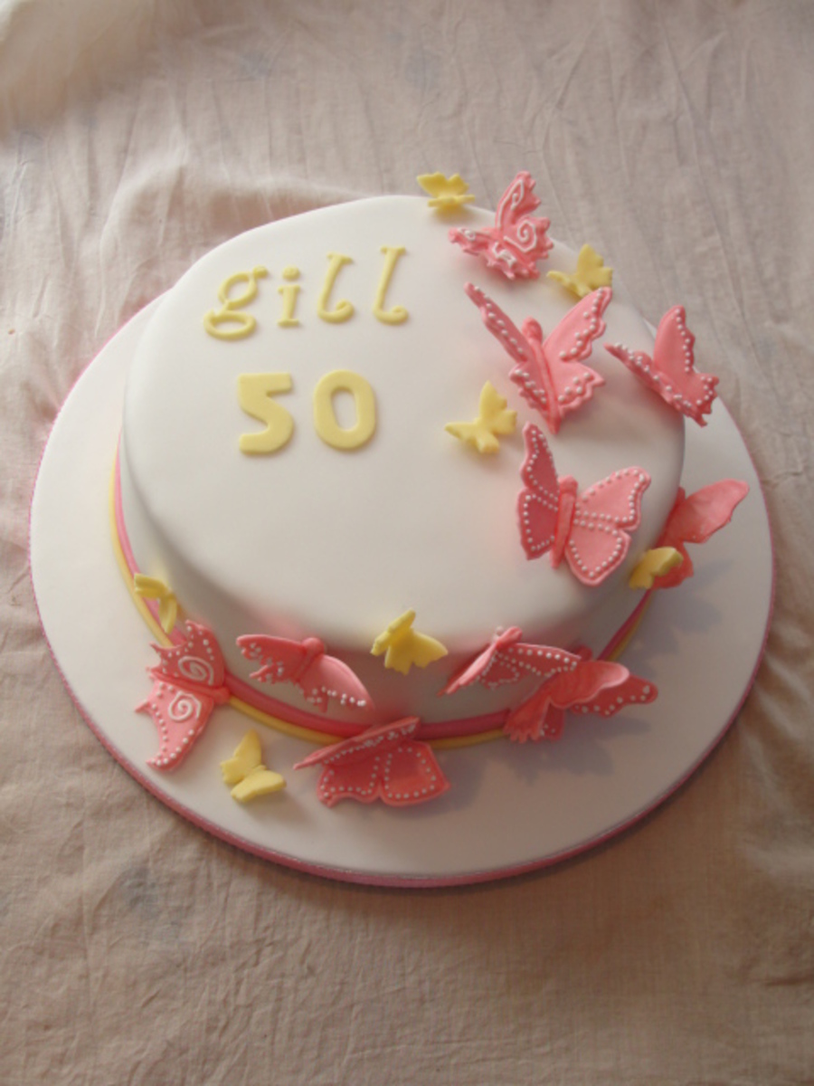 Butterfly Run Out Cake on Cake Central