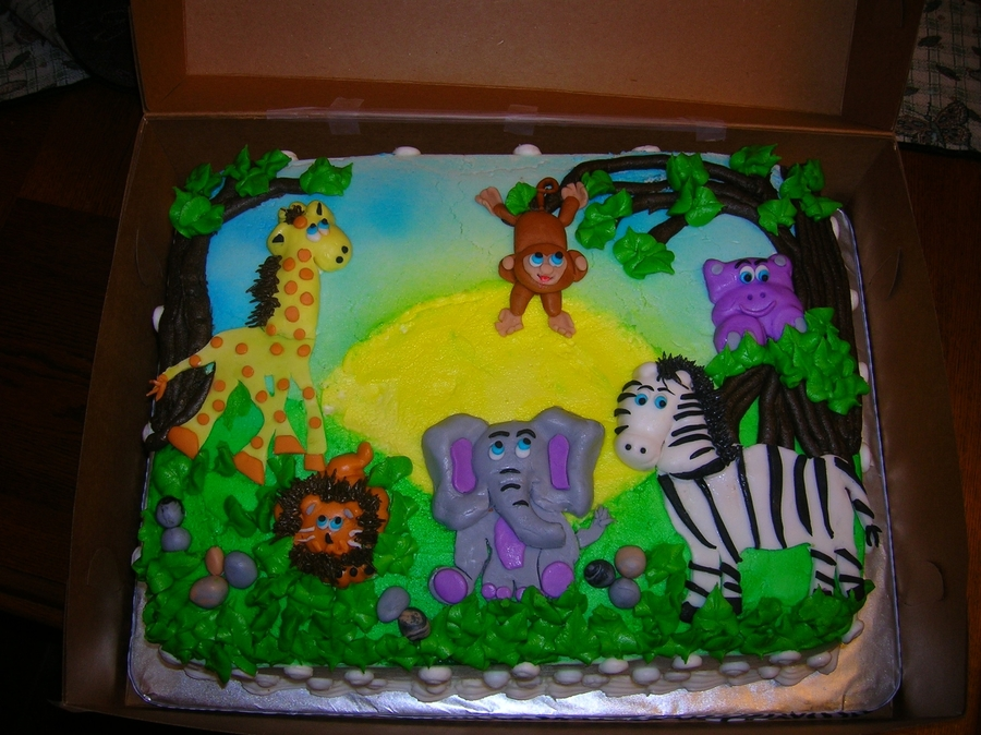 Jungle Safari Baby Shower Cake Cakecentral