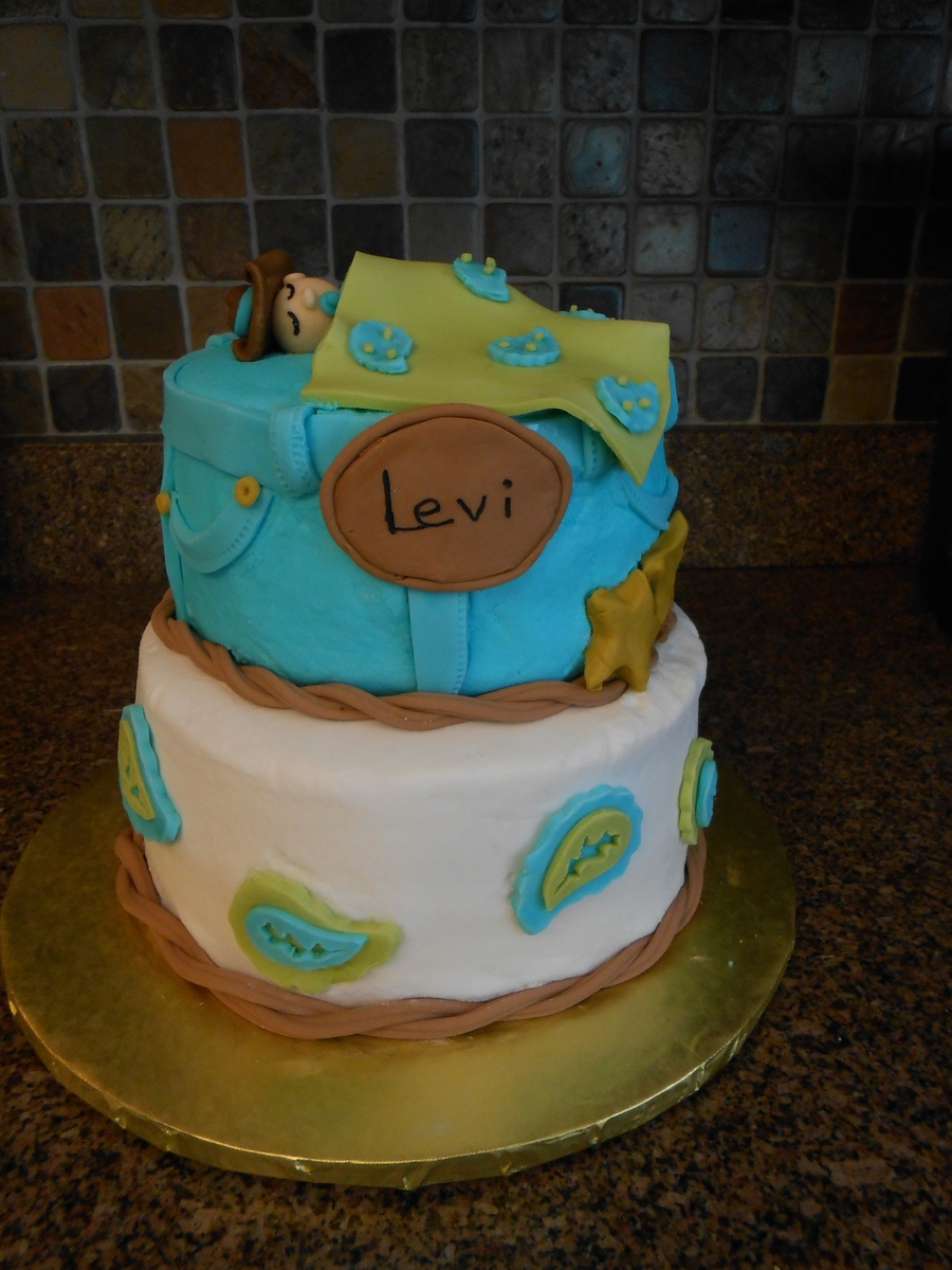 Paisley Cowboy Baby Shower on Cake Central