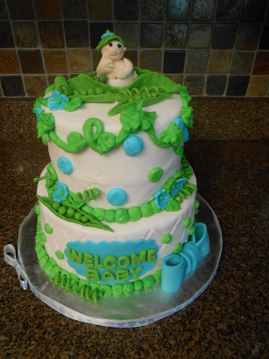 Pea Pod Baby Shower Cake on Cake Central