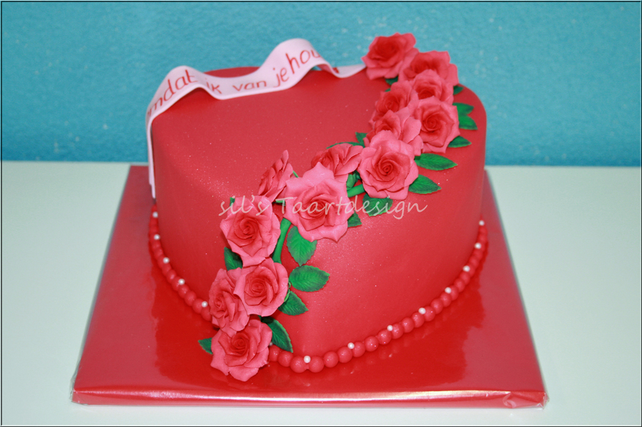 Ive Had A Valentine Contest The Most Beautiful Story Could Win A Cake The Winning Story Was About Unconditional Love Between Mother And on Cake Central