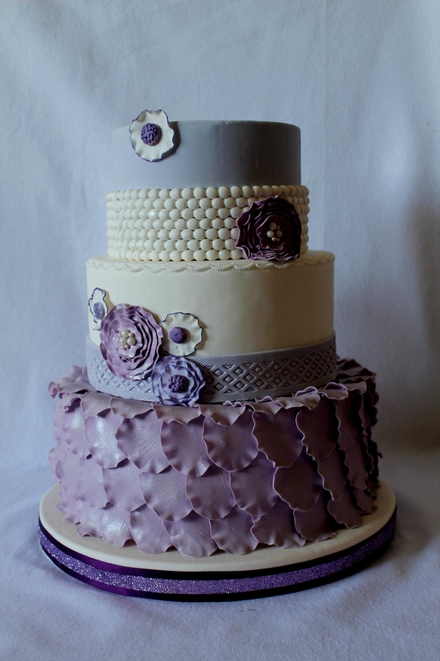 Purple Pearl & Petal Cake on Cake Central
