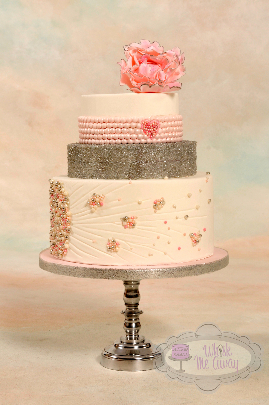 Pink Pearl Wedding Cake For Cc Magazine Cakecentral Com