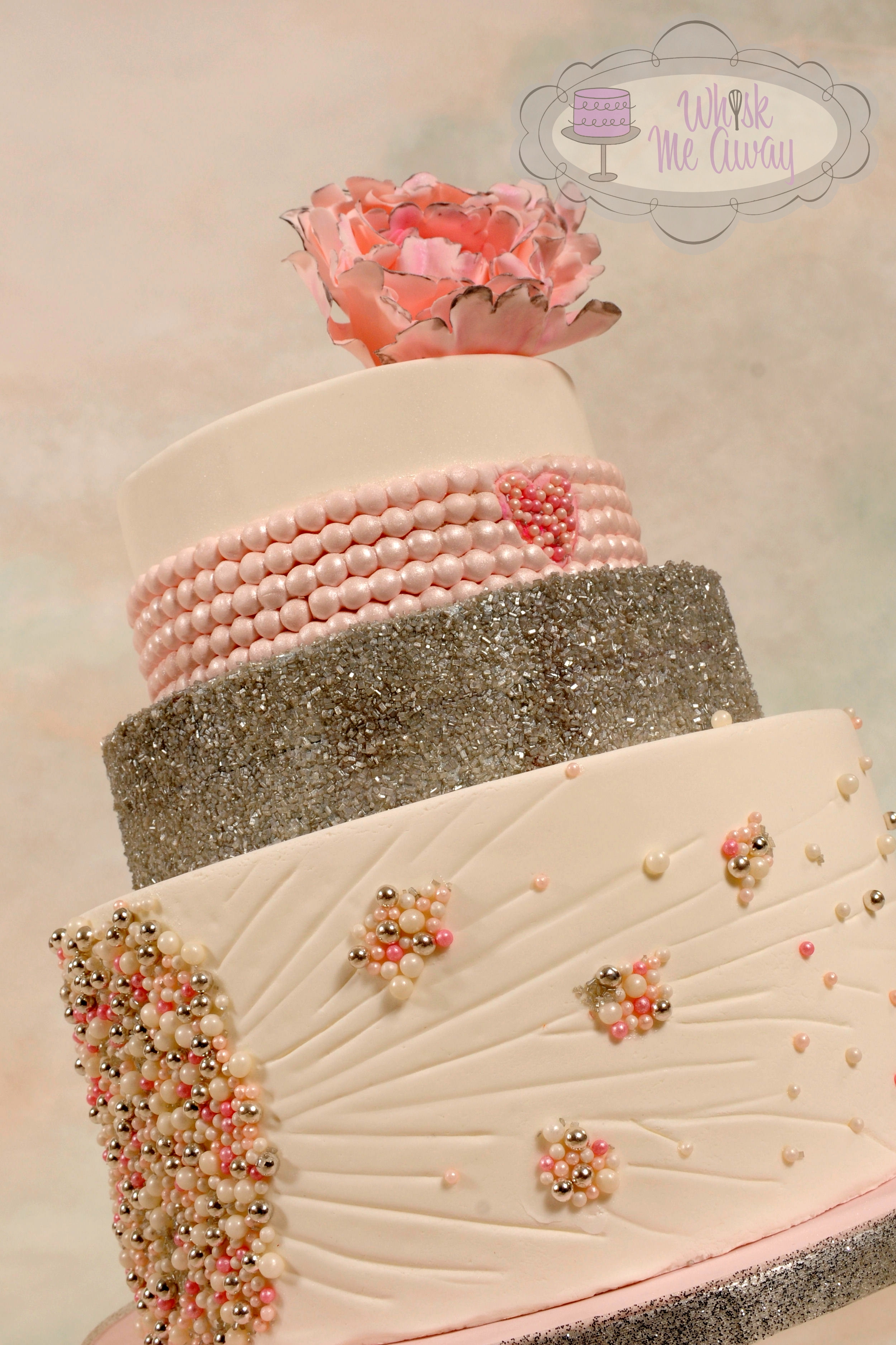 Pink Pearl Wedding Cake For Cc Magazine CakeCentralcom