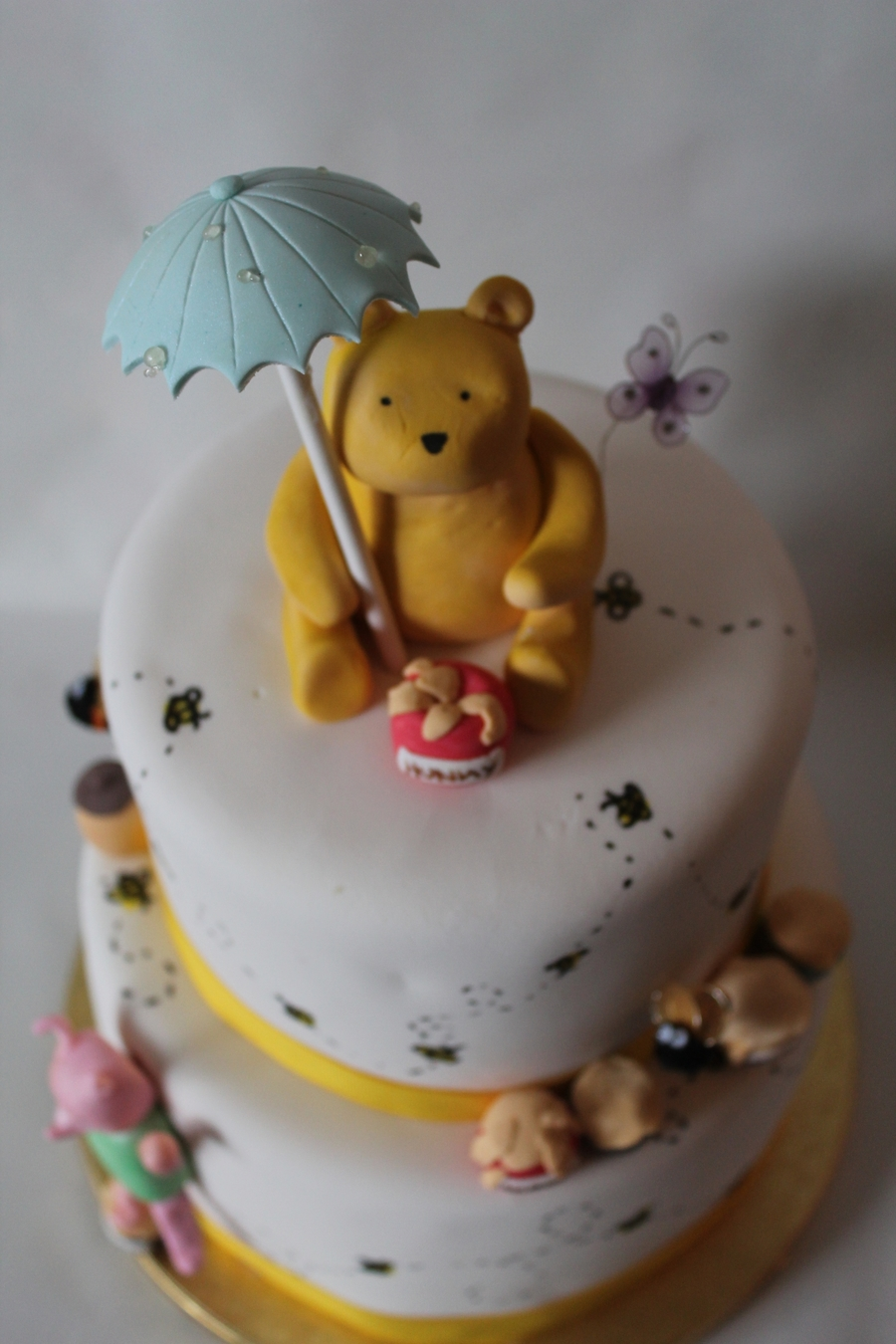 classic winnie the pooh baby shower cake