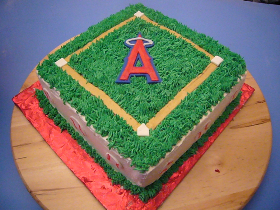 Cool Angels Baseball Birthday Cake Cakecentral Com Personalised Birthday Cards Paralily Jamesorg