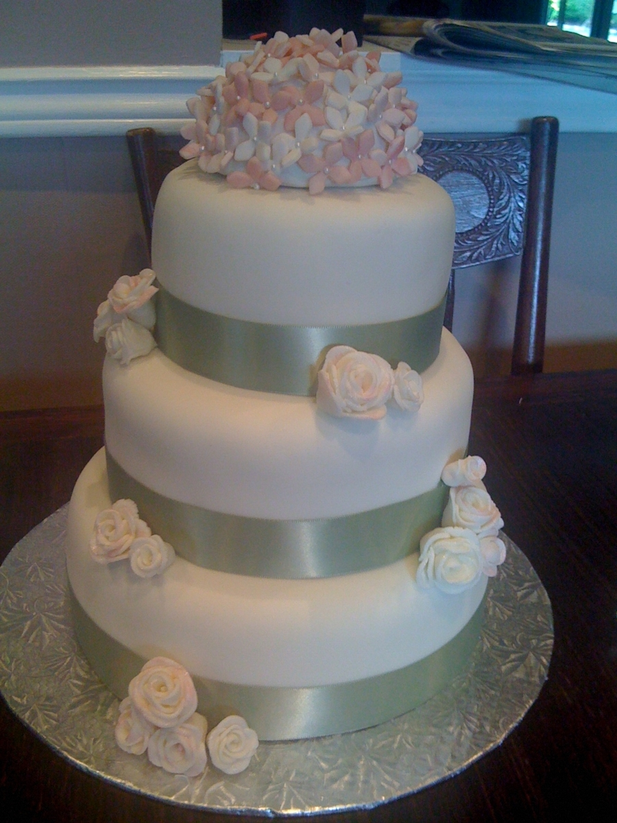 My Wedding Cake 3 Tier on Cake Central