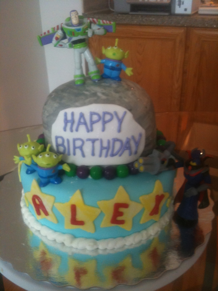 Toy Story Buzz Lightyear Theme Birthday Cake Cakecentral