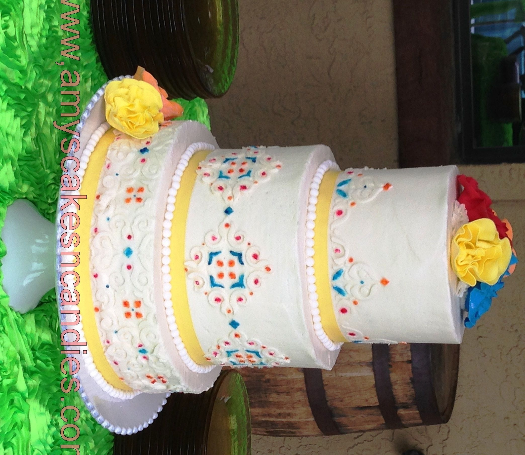 Cinco De Mayo Wedding Cake - CakeCentral.com