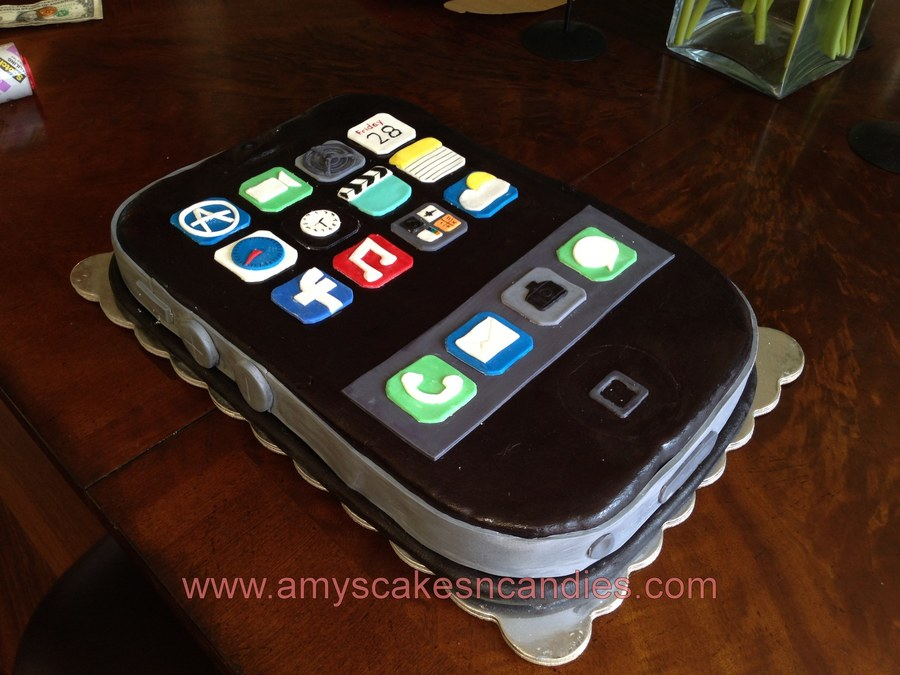 Iphone Grooms Cake on Cake Central