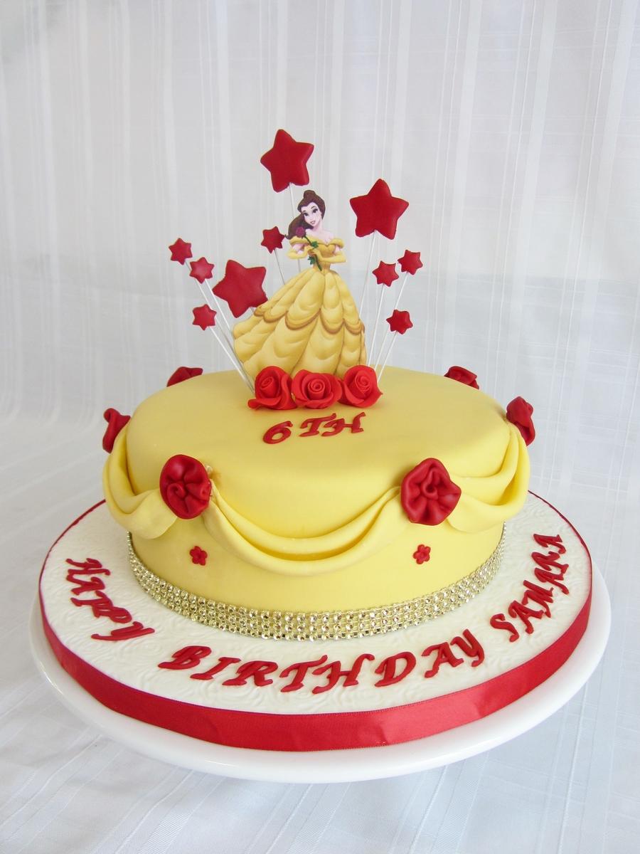 Princess Belle Birthday Cake Ideas