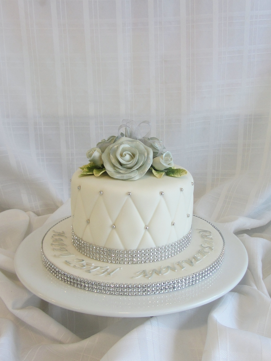 anniversary wedding cake tradition traditional 25th wedding anniversary cakecentral 10788