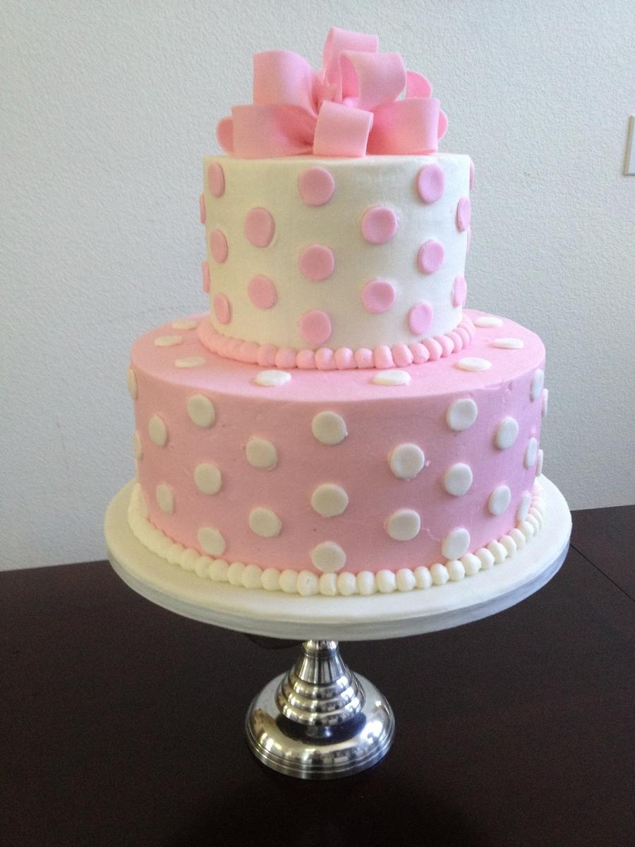 Polka Dot Present Cake Cakecentral Com