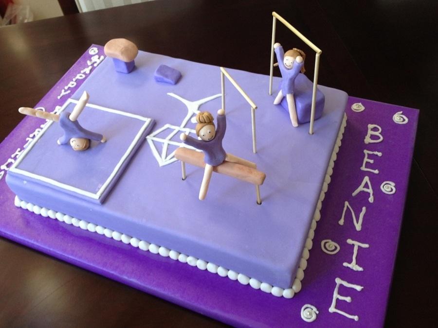 gymnastics cake. Black Bedroom Furniture Sets. Home Design Ideas