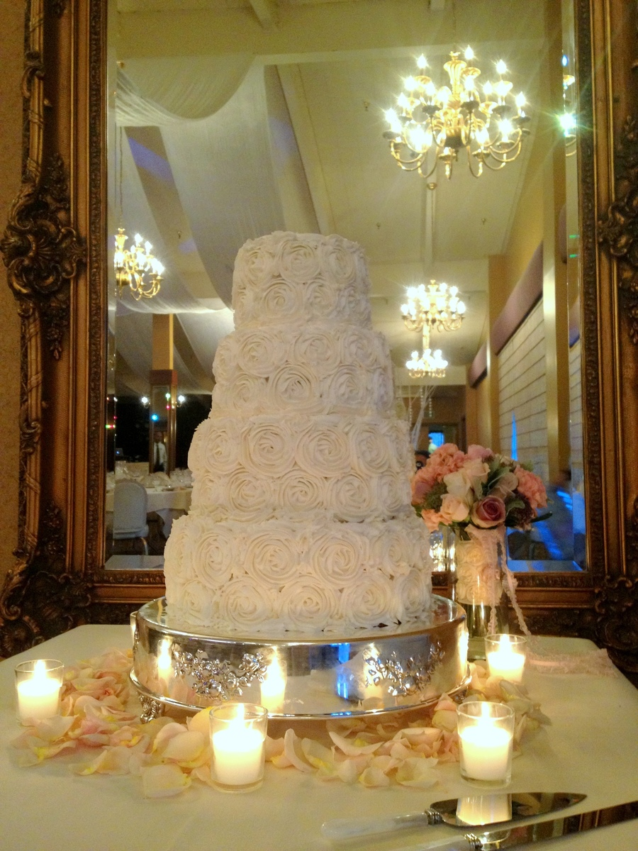 Rosette Wedding Cake 6 8 10 And 12 All 4 Tall White