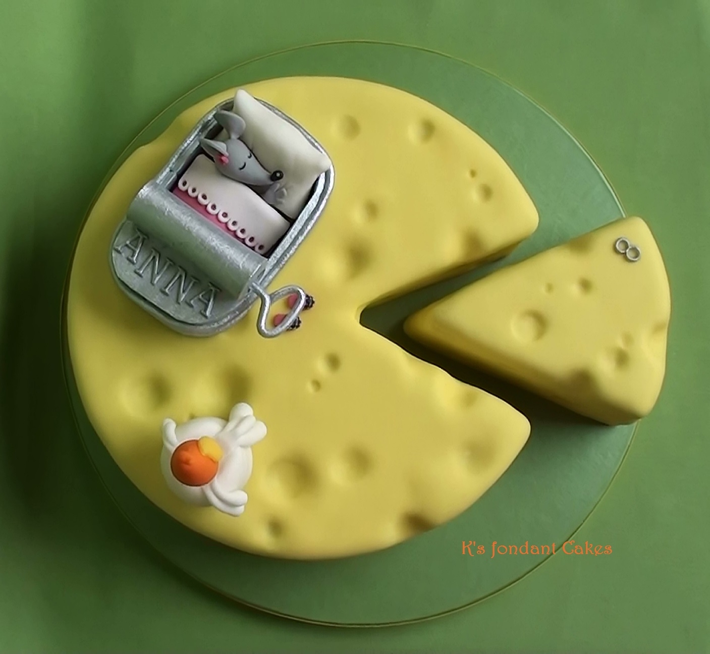 Cheese Sleeping Mouse Cake Cakecentral Com