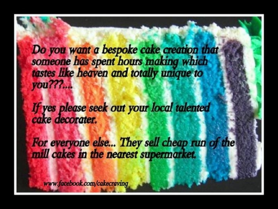 Rainbow Cake Poster on Cake Central