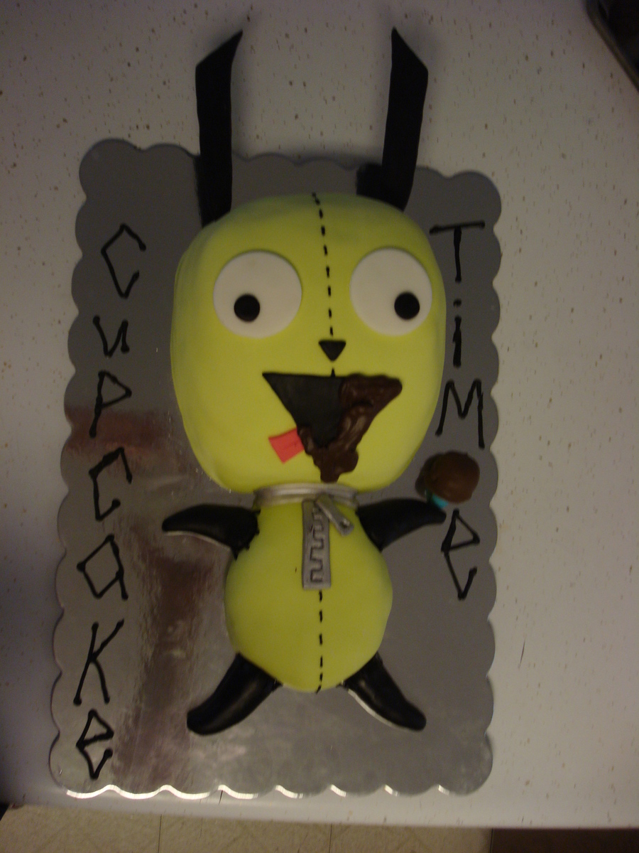 "Invader Zim ""gir"" Cake  on Cake Central"