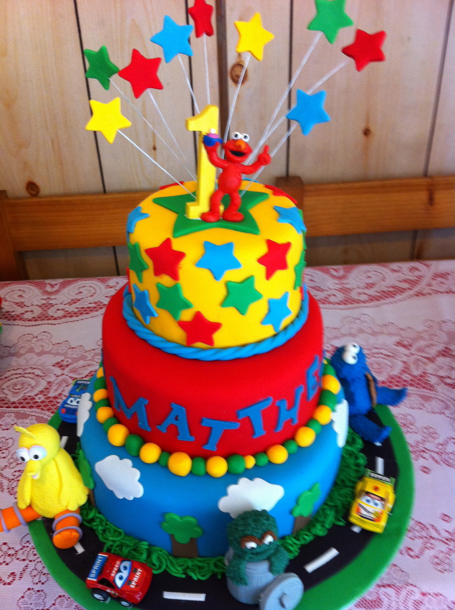 Sesame Street, First Birthday Cake. on Cake Central