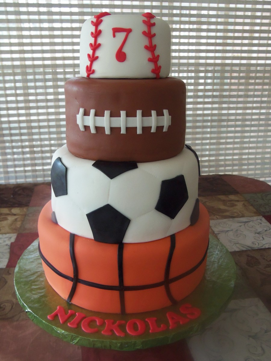 Pictures Of Sports Theme Baby Shower Cakes