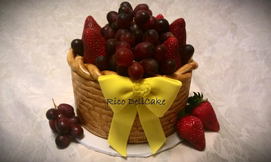 Cake Basket With Fruit on Cake Central