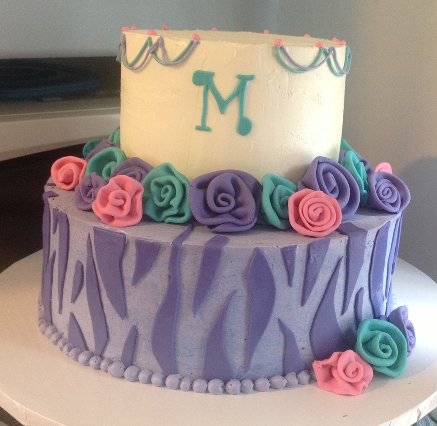 A Birthday Cake For Madison The Girls Only Request Was That I Use Purple And