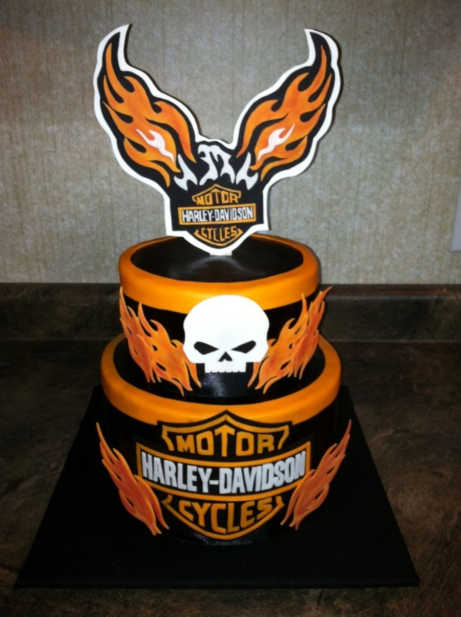 Harley Davidson Birthday Cake on Cake Central