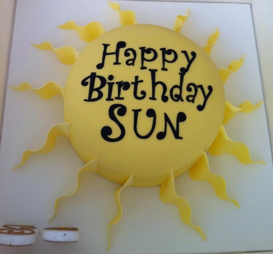 Happy Birthday Sun Cakecentral Com