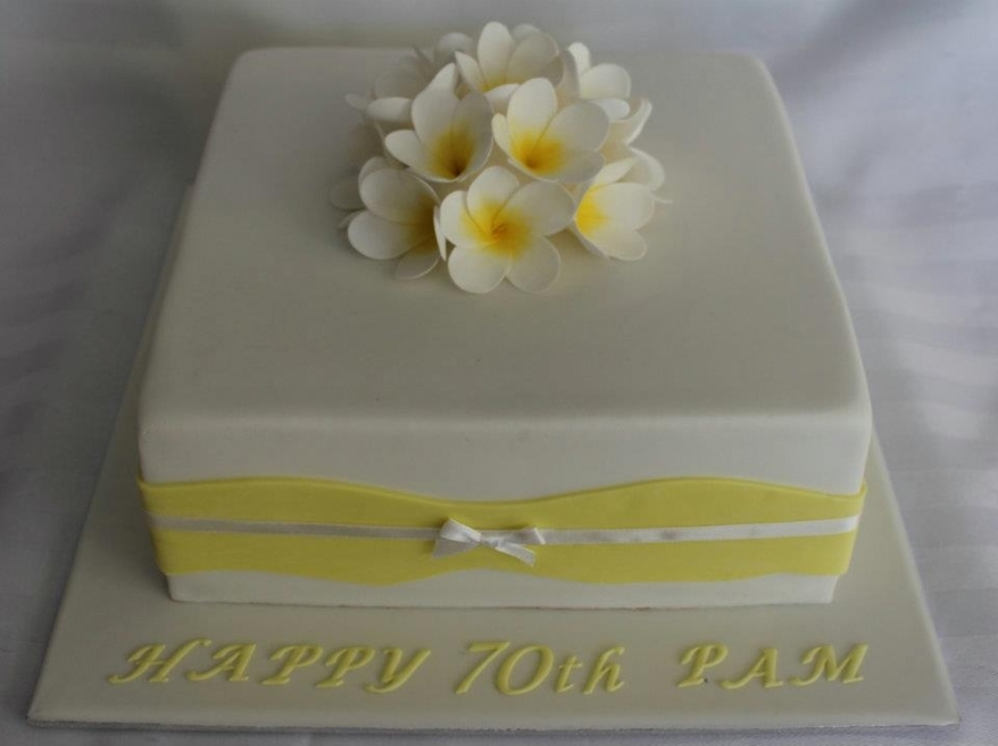 Frangipani's For Pam on Cake Central