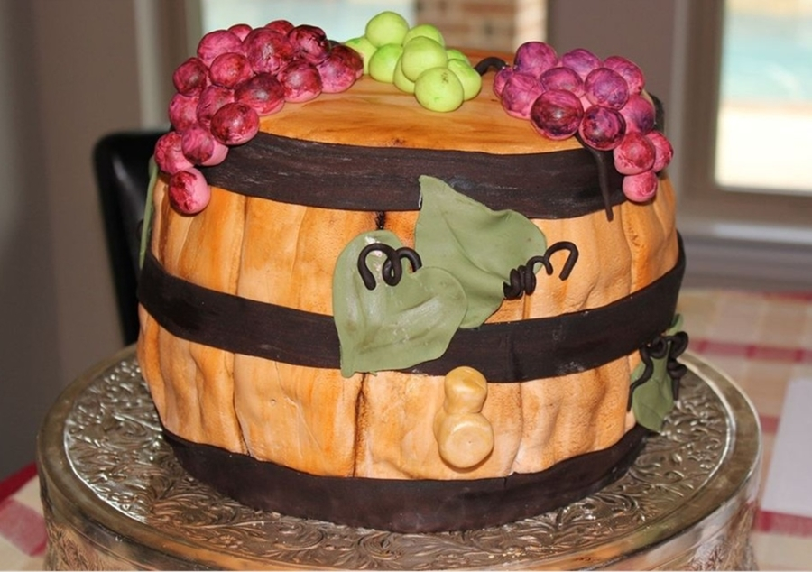 Wine Barrel Birthday Cake on Cake Central