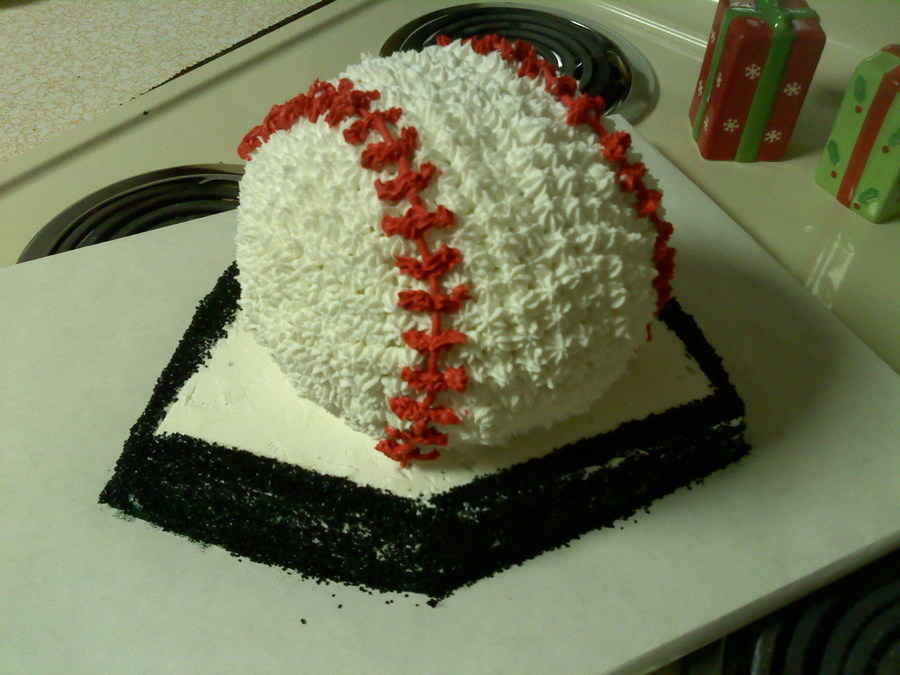 Phenomenal Baseball Birthday Cake For Nephew Cakecentral Com Funny Birthday Cards Online Fluifree Goldxyz