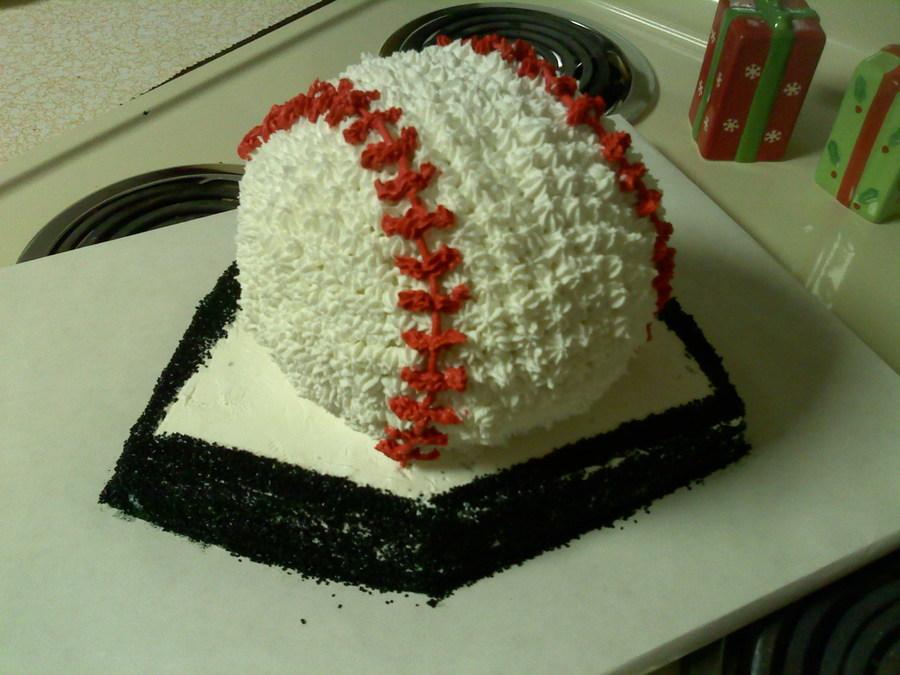 Enjoyable Baseball Birthday Cake For Nephew Cakecentral Com Funny Birthday Cards Online Fluifree Goldxyz