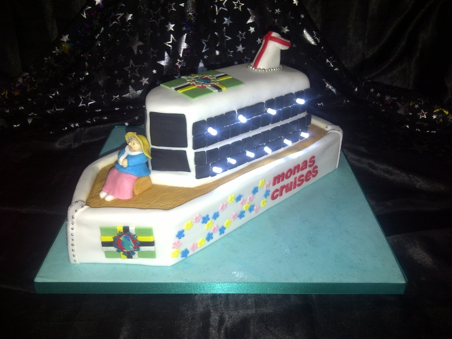 Cruise Ship With Lights on Cake Central