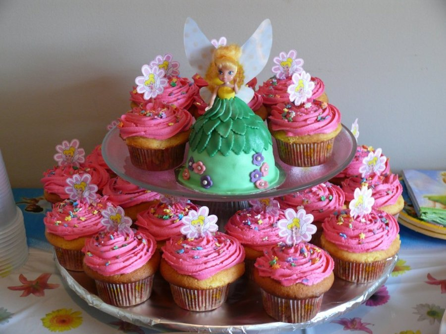 Tinkerbell Smash Cake With Cupcakes Cakecentral Com