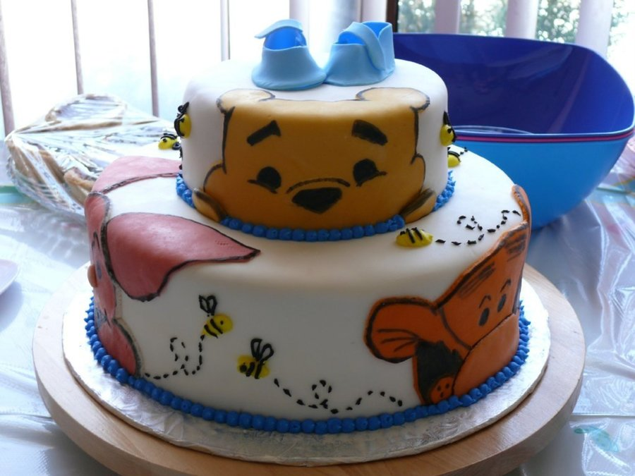 Winnie The Pooh Shower Cake on Cake Central
