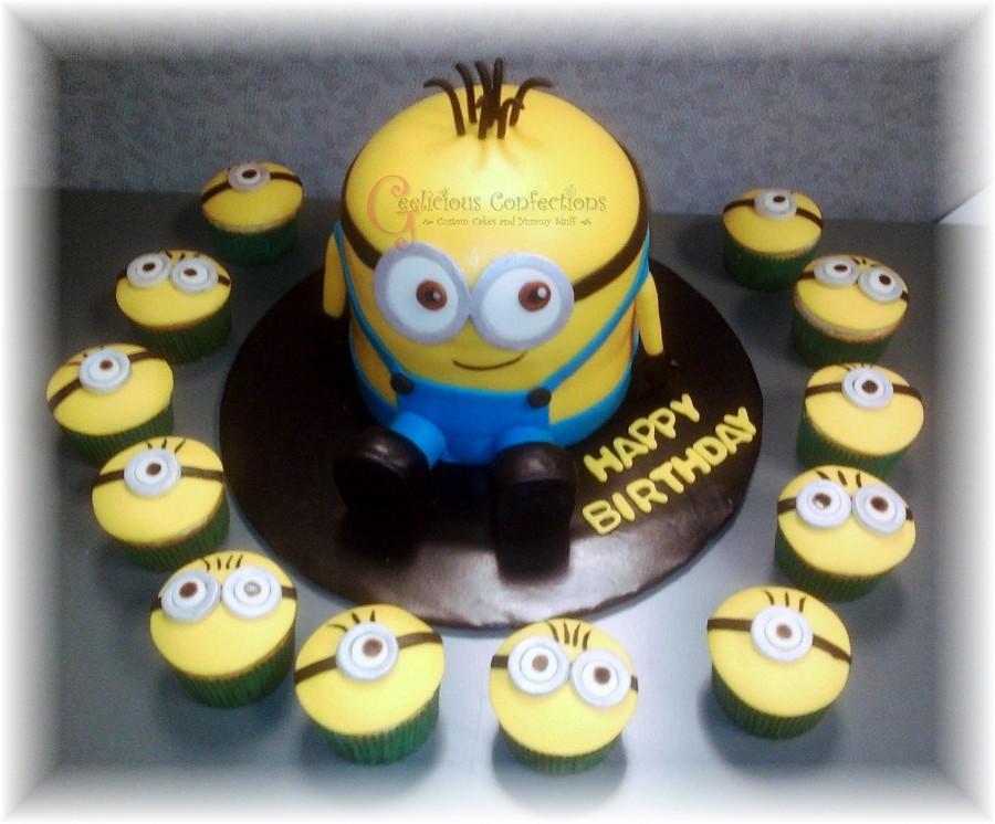 Minion cake and cupcakes - Cake decorations minions ...