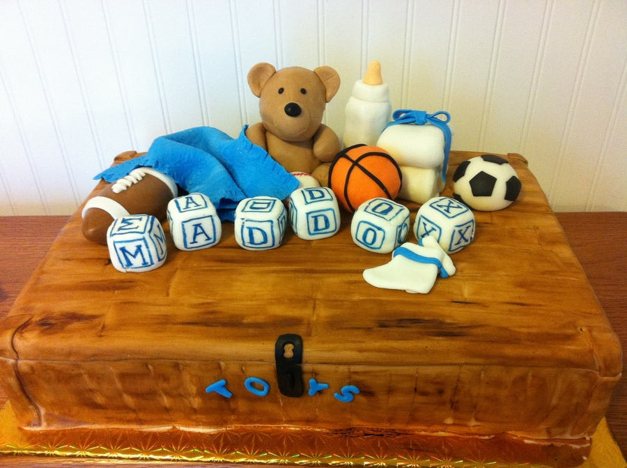 Baby Shower Toybox Cake on Cake Central