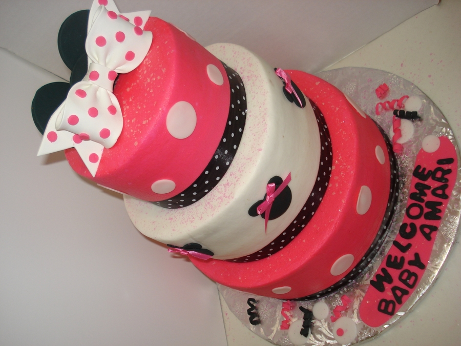 Tiered Minnie Mouse Cake - CakeCentral.com