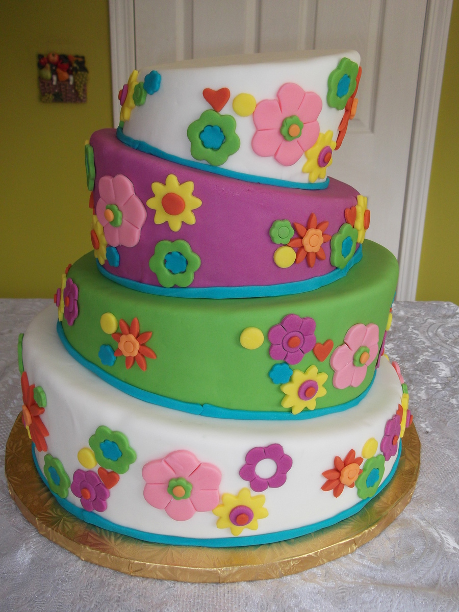 Topsy Turvy Birthday Cake on Cake Central