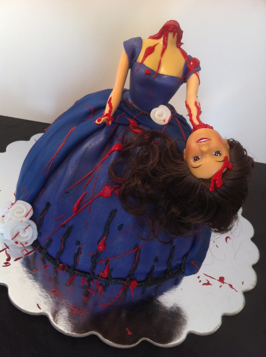 Decapitated Barbie Cake Cakecentral Com