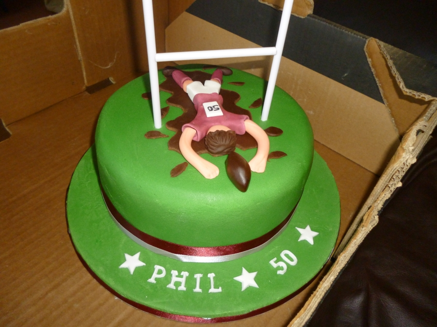 Outstanding Mens 50Th Rugby Cake Cakecentral Com Funny Birthday Cards Online Elaedamsfinfo