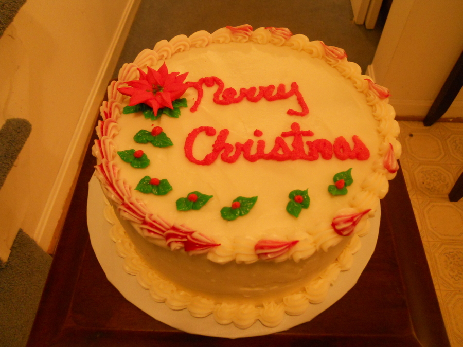 Red Velvet Christmas Cake  on Cake Central